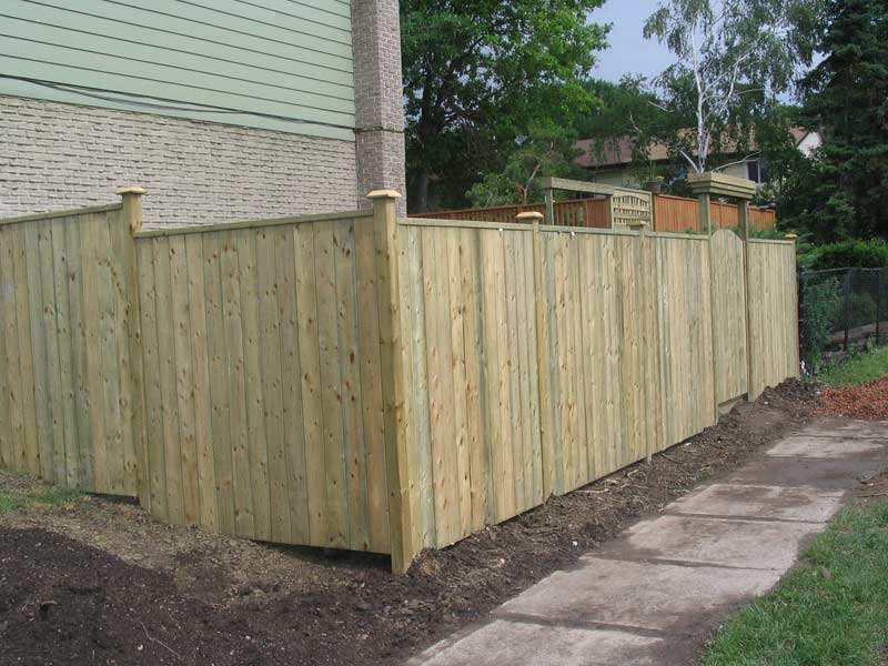 Wood Amp Vinyl Fence Bore Fence Ltd Offers Design And